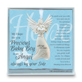 Baby Boy Angel Ornament with Sentiment, MPN: GM14278, UPC: 667788302902