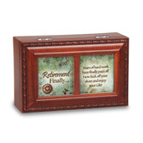 Retirement Sentiment Woodgrain Petite Music Box, MPN: GM14482, UPC: 633303223427