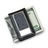Black Faux Leather Money Clip, MPN: GM14594, UPC: 47105025651