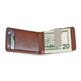 Brown Leather Folding Card Case with Money Clip, MPN: GM14704, UPC: 47105567380