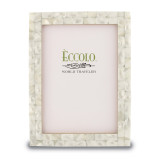 White 5 x 7 Inch Mother of Pearl Picture Frame, MPN: GM15028, UPC: 826635130529