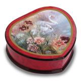 Artist Lena Liu Heart Shape Swan with Daylilies Music Box, MPN: GM15098, UPC: 802192955734