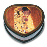 Artist Klimt Heart Shaped The Kiss Music Box, MPN: GM15099, UPC: 802192959845