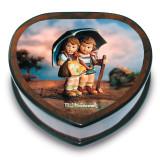 Artist Hummel Heart Shaped Stormy Weather Music Box, MPN: GM15100, UPC: 802192910583