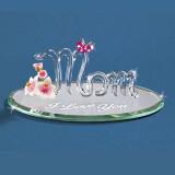 Mom with Pink Cry Butterfly I-L-U Figurine Glass Baron, MPN: GM15128, UPC: 708873018039