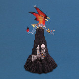 Dragon Castle Mountain Figurine Glass Baron, MPN: GM15145, UPC: 708873031076
