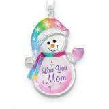 Snowman Love You Mom Ornament Glass Baron, MPN: GM15152, UPC: 708873031441