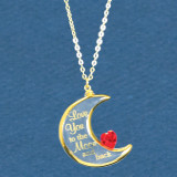 Love You To The Moon Necklace Glass Baron, MPN: GM15179, UPC: 708873033735