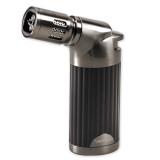 Vertigo Champ Black Matte and Gunmetal Quad Flame Table Torch Lighter, MPN: GM15354, UPC: 894236012513