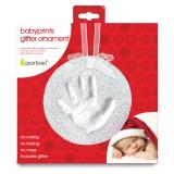 White Babyprints Glitter Ornament GM15723