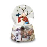 Glitterdome Musical Snowman with Kid, MPN: GM15744, UPC: 89945519471