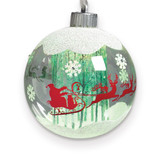 LED Santa In Sleigh Ornament, MPN: GM15775, UPC: 89945548181
