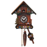 Cottage with Hand-painted Flowers Cuckoo Clock, MPN: GM16187, UPC: 711705005817