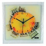 Train Artisan Glass Wall Clock, MPN: GM16194, UPC: 711705006944