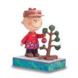 Peanuts Jim Shore Charlie Brown with Christmas Tree Figurine, MPN: GM16251, UPC: 455446984504