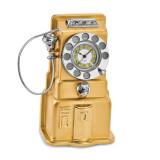 Telephone Desk Clock Gold-tone, MPN: GM16859, UPC: 788089051044