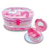 Ballerina Beauties Oval Musical Jewelry Box, MPN: GM17119, UPC: 842817019789