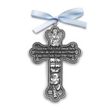Baby Boy with Blue Ribbon Crib Cross Ornament Silver-tone, MPN: GM17293, UPC: 785525070133