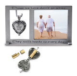 Always In My Heart Ash Holder Locket 3 x 5 Inch Photo Picture Frame Silver-tone, MPN: GM17433, UPC: 785525271424