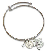 2017 & Cap Charm Graduation Bangle Silver-tone, MPN: GM17457, UPC: 785525274739