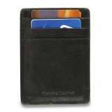 Black Leather Card Case Money Clip, MPN: GM17786