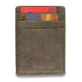 Brown Leather Card Case Money Clip, MPN: GM17787, UPC: 892925156753