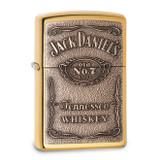 Zippo Jack Daniels Label Brass Emblem High Polish Brass Lighter, MPN: GM17929, UPC: 416891642