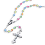 Children's Neon Color Bead Rosary Necklace, MPN: GM17986