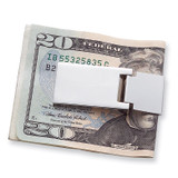 Nickel-plated Hinged Money Clip, MPN: GM607, UPC: 47105031133
