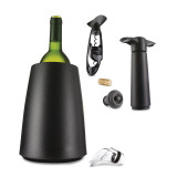 Black Elegant Wine Cooler Gift Set, MPN: GM9958, UPC: 84256388907
