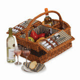 Hand-woven Willow Service for Two Wine Carrier and Picnic Basket, MPN: GP7784, UPC: 807348110589