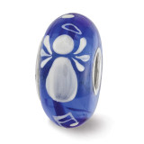 Angels & Music Fenton Glass Bead Sterling Silver Hand Painted MPN: QRS3613 UPC: 19727651099 by Reflection Beads