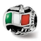 Enameled Italy Theme Bead Sterling Silver MPN: QRS3747 UPC:  by Reflection Beads