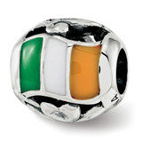 Enameled Ireland Theme Bead Sterling Silver MPN: QRS3748 UPC:  by Reflection Beads