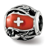 Enameled Switzerland Theme Bead Sterling Silver MPN: QRS3753 UPC:  by Reflection Beads