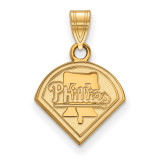 MLB Philadelphia Phillies Small Pendant in 10k Yellow Gold MPN: 1Y001PHI UPC: 886774795171