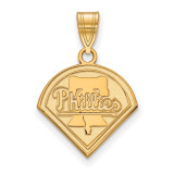 MLB Philadelphia Phillies Medium Pendant in 10k Yellow Gold MPN: 1Y002PHI UPC: 886774797656