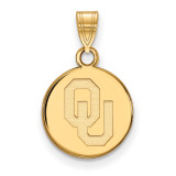 University of Oklahoma Small Disc Pendant in 14k Yellow Gold MPN: 4Y034UOK UPC: 886774879673