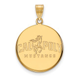 California Polytechnic State U Large Disc Pend in Gold-plated Sterling Silver MPN: GP001CPY UPC: 883957247908