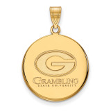 Grambling State University Large Disc Pendant in Gold-plated Sterling Silver MPN: GP001GRA UPC: 883957248318