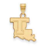 Louisiana Tech University Small Pendant in Gold-plated Sterling Silver MPN: GP001LTU UPC: 191101010569
