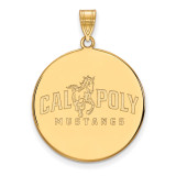 California Polytechnic State U x-Large Disc Pendant in Gold-plated Sterling Silver MPN: GP002CPY UPC: 883957247915