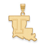 Louisiana Tech University Large Pendant in Gold-plated Sterling Silver MPN: GP002LTU UPC: 191101010576