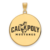 California Polytechnic State U x-Large Enl Disc Pendant in Gold-plated Sterling Silver MPN: GP003CPY UPC: 883957247922
