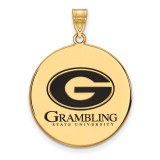 Grambling State U x-Large Enamel Disc Pendant in Gold-plated Sterling Silver MPN: GP003GRA UPC: 883957248332