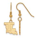 Louisiana Tech University Small Dangle Earring in Gold-plated Sterling Silver MPN: GP003LTU UPC: 191101010583