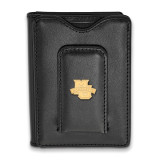 Marquette University Black Leather Wallet in Gold-plated Sterling Silver MPN: GP005MAR-W1 UPC: 191101010699