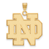 University of Notre Dame x-Large Pendant in Gold-plated Sterling Silver MPN: GP005UND UPC: