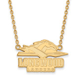 Longwood U Large Enamel Pendant with Necklace in Gold-plated Sterling Silver MPN: GP010LOC-18 UPC: 886774911045