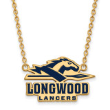 Longwood U Large Enamel Pendant with Necklace in Gold-plated Sterling Silver MPN: GP011LOC-18 UPC: 886774912745